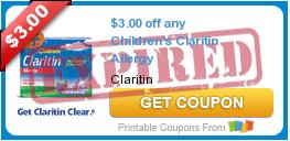 $3.00 off any Children's Claritin Allergy