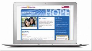 Screen Shot of Sample CaringBridge Site