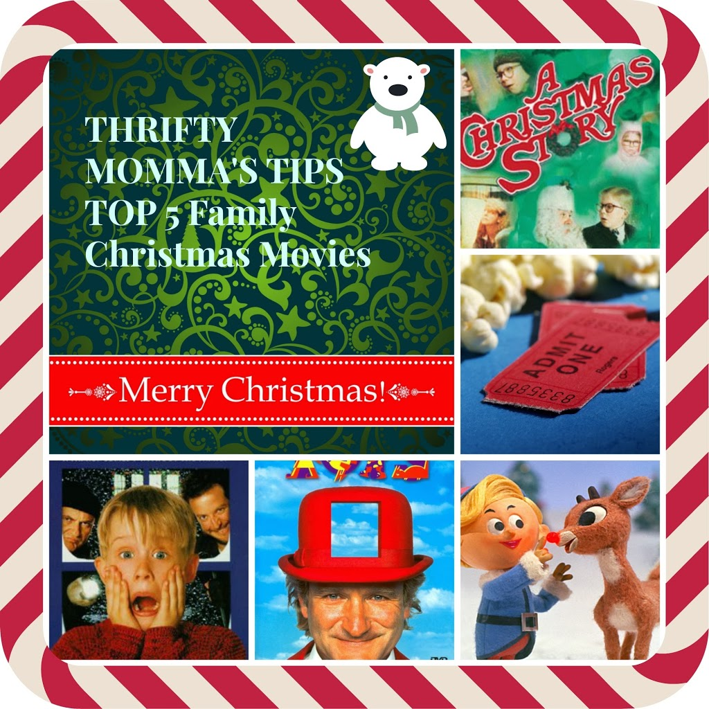 My Top Five Family Christmas Movies Thrifty Mommas Tips
