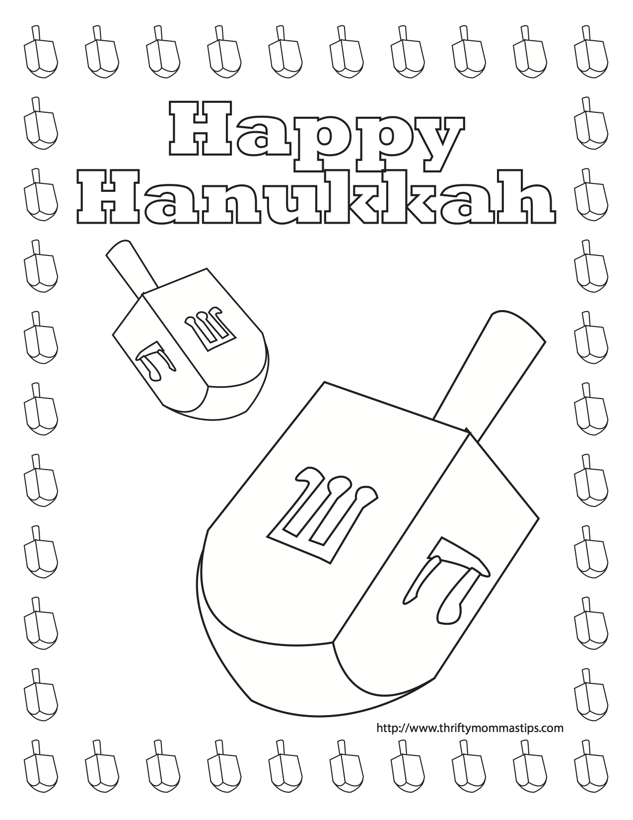 free printable dreidel coloring pages. Black Bedroom Furniture Sets. Home Design Ideas
