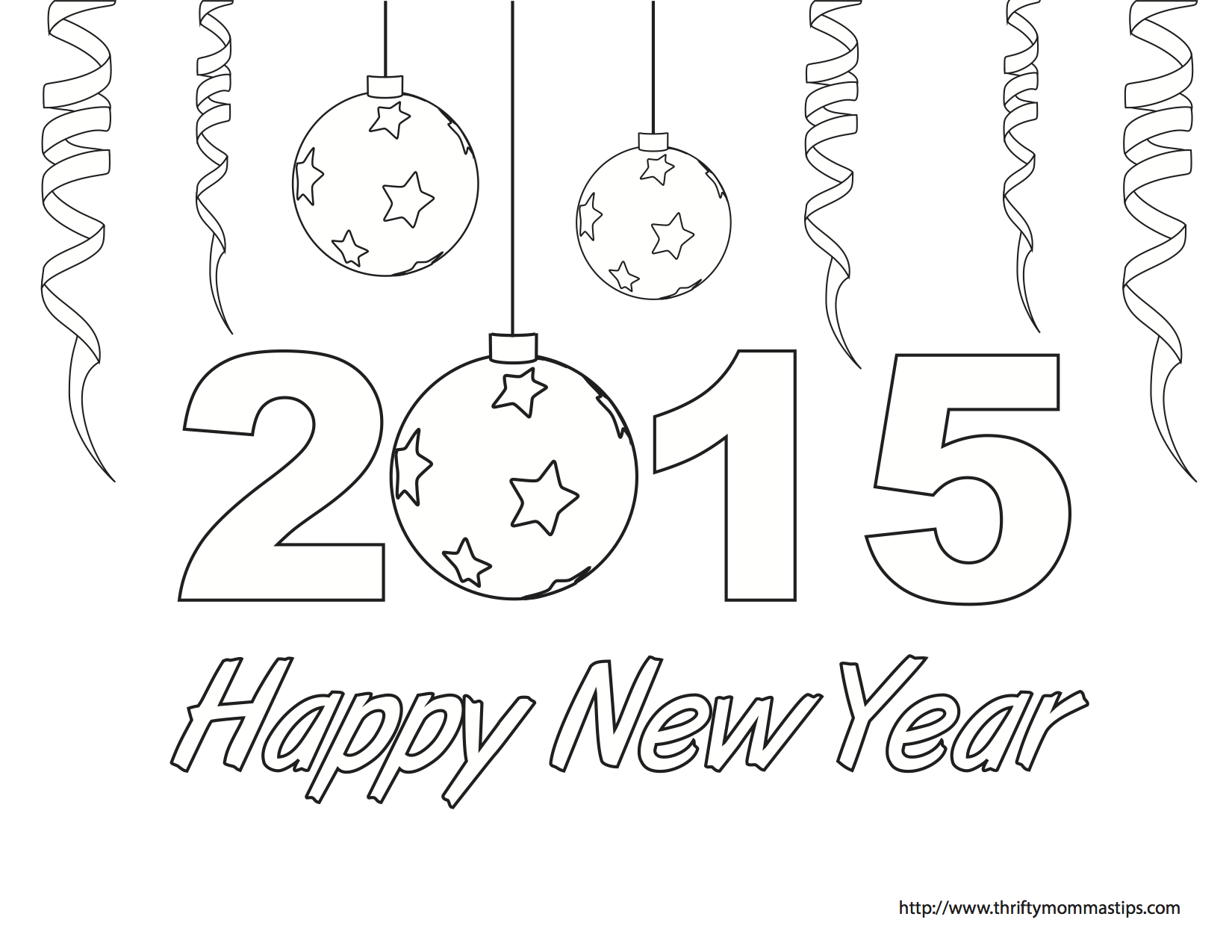 Happy new year coloring page for New years coloring pages 2014
