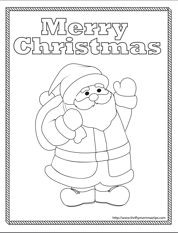 free Santa coloring page