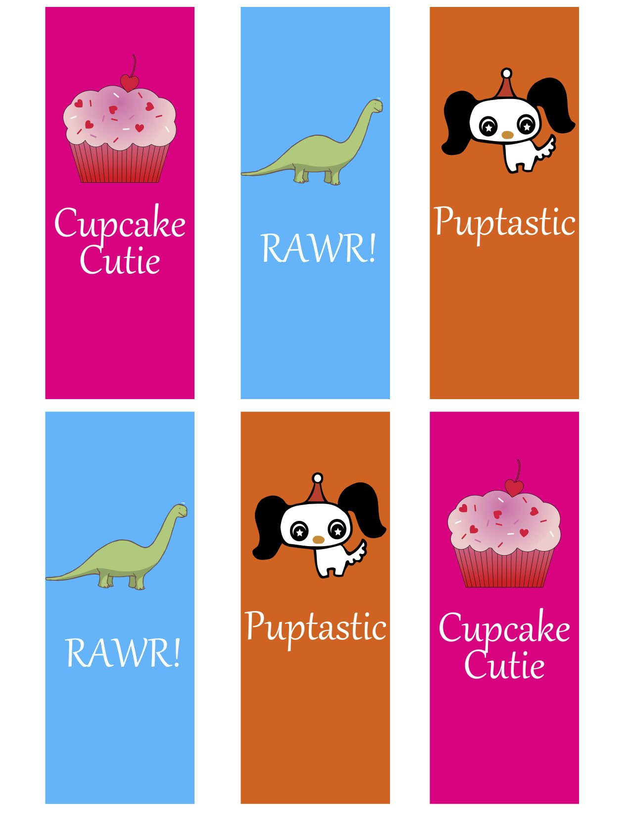 Cute kid's bookmarks printable