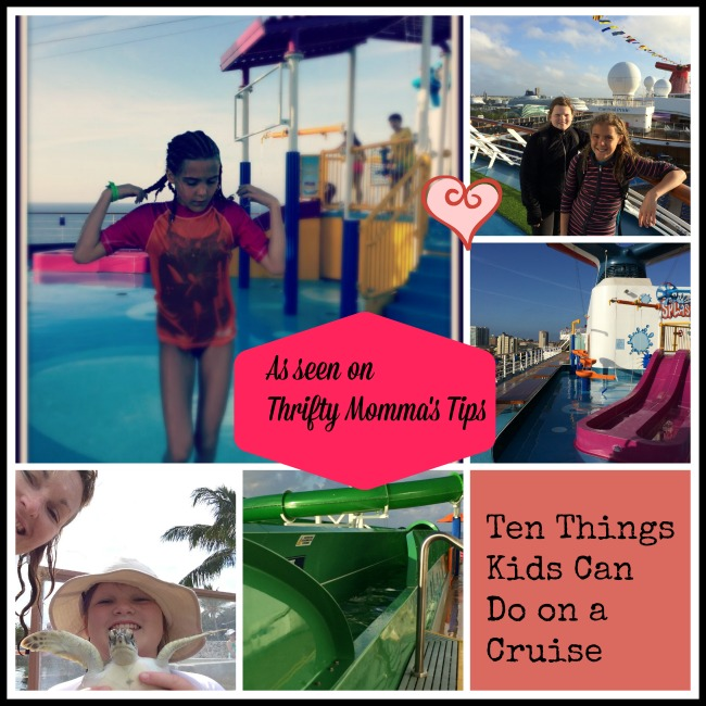 Ten Things Kids Can Do on a Cruise