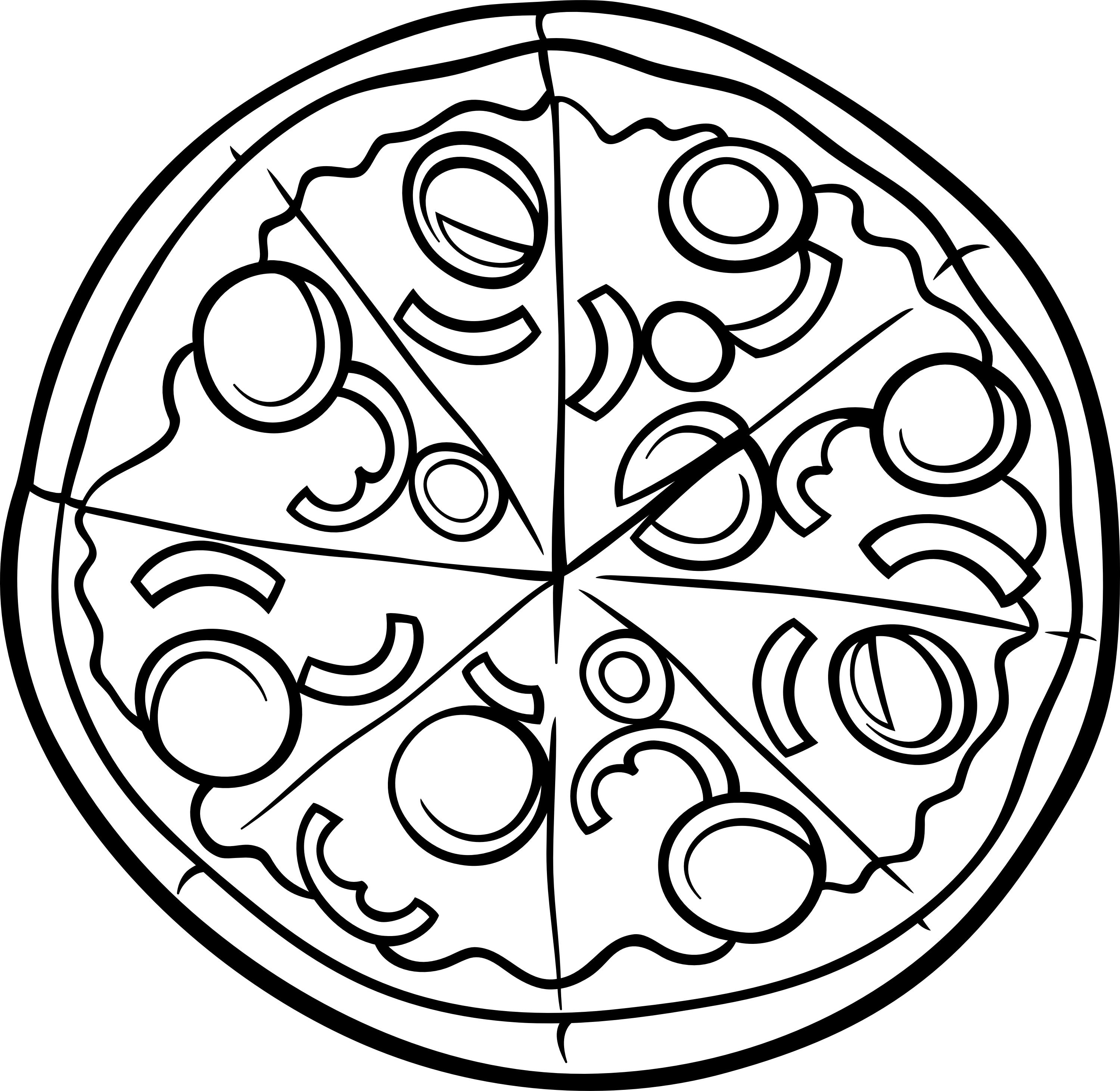 Free Coloring Pages Of Pizza Clipart Coloring Pages Pizza