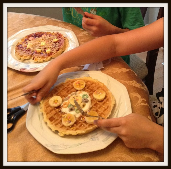 Sleepover madness - the girls decided to make a waffle challenge with each other this past weekend.