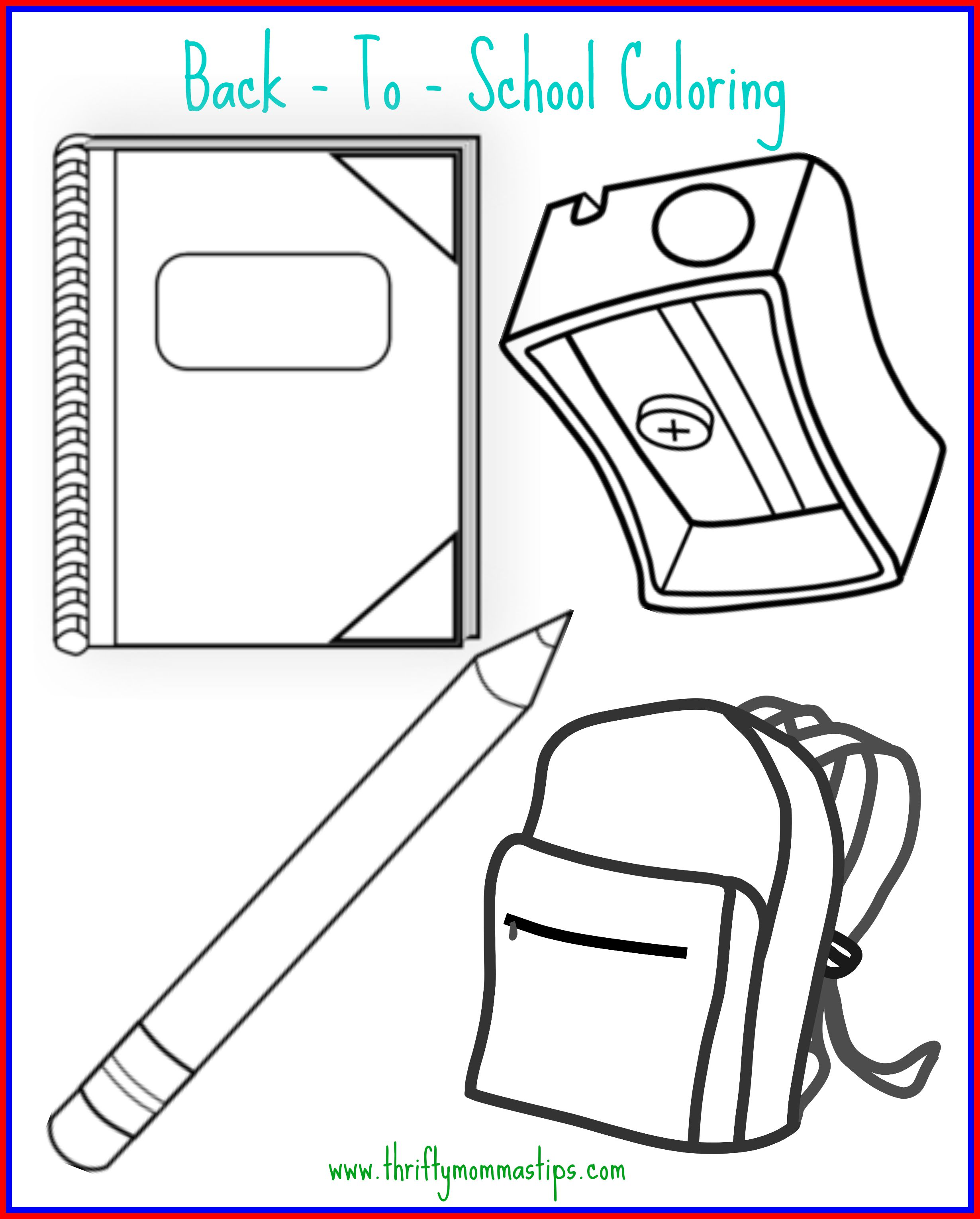 Back to School Coloring Page
