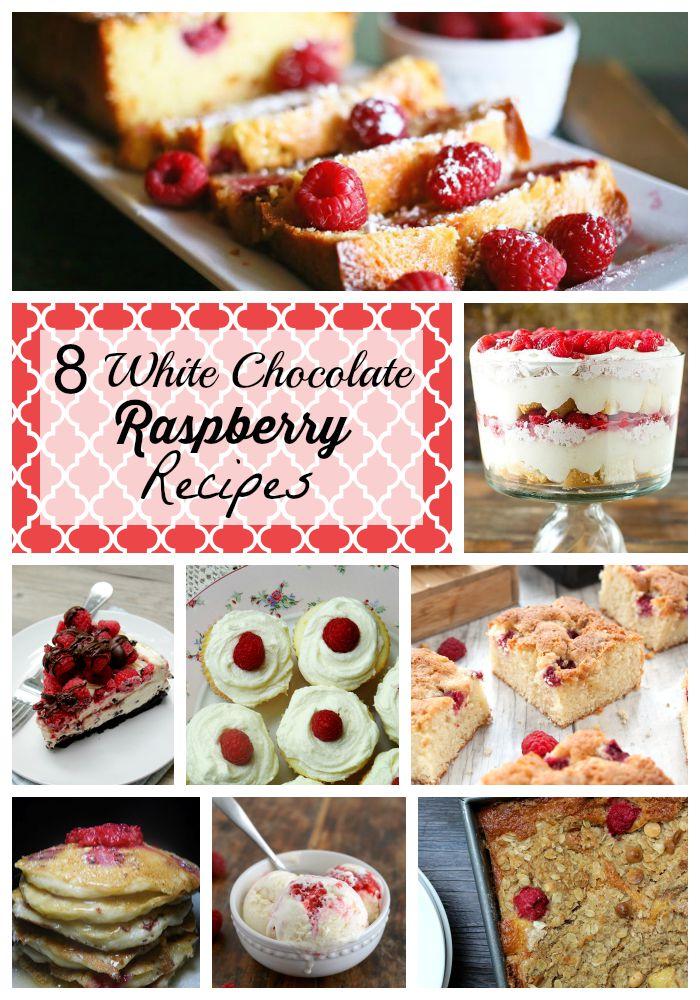 white chocolate raspberry recipes