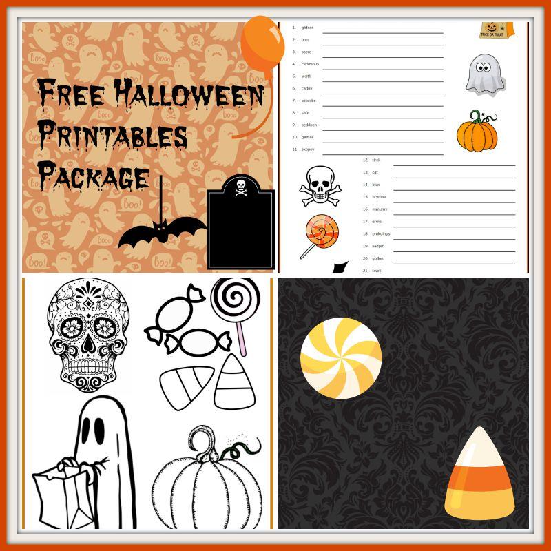 halloween printables package