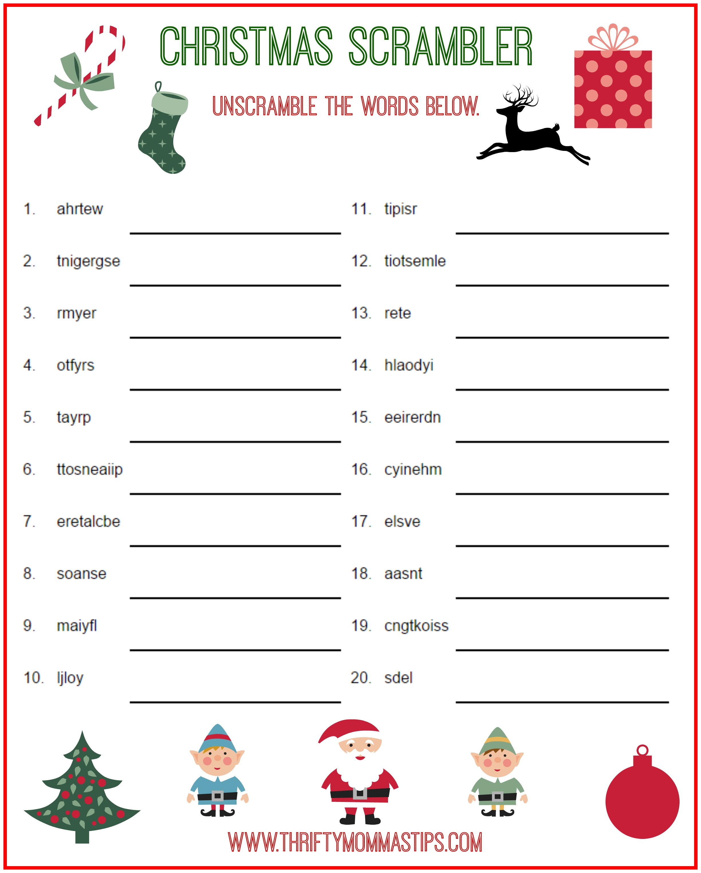 This is a graphic of Bright Christmas Crossword Puzzles Printable