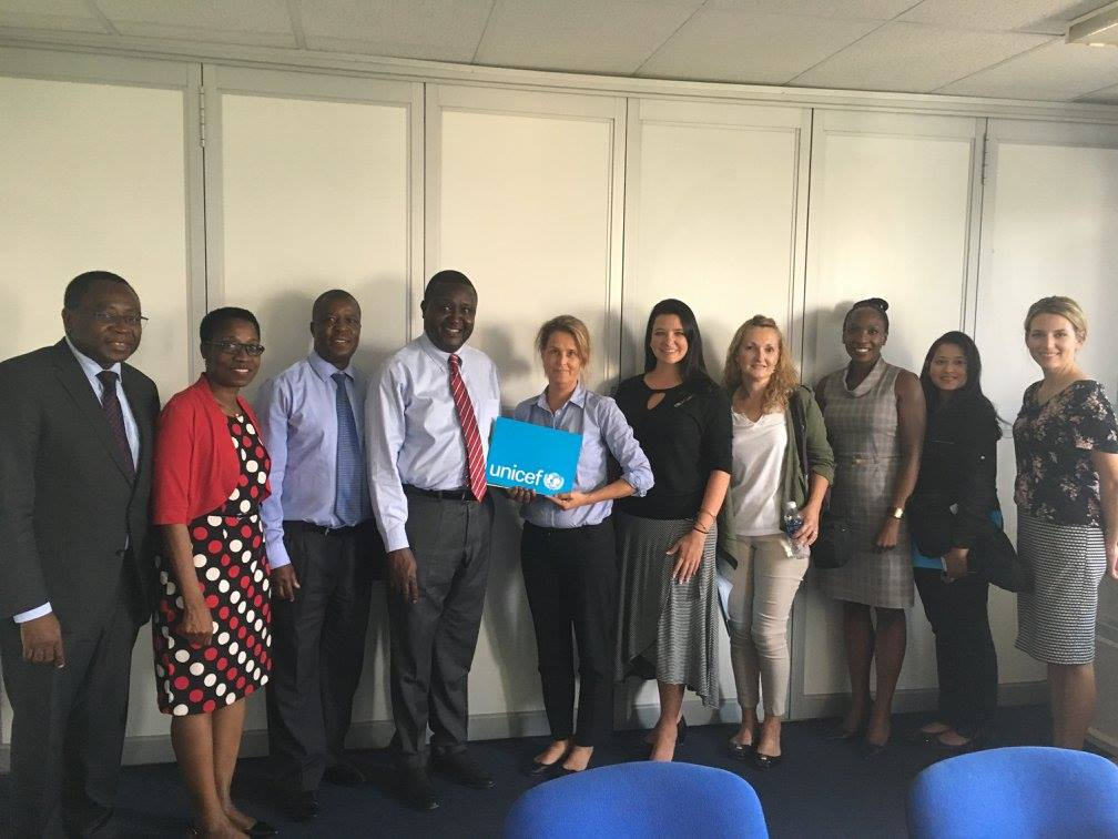 Unicef in Zambia group of journalists