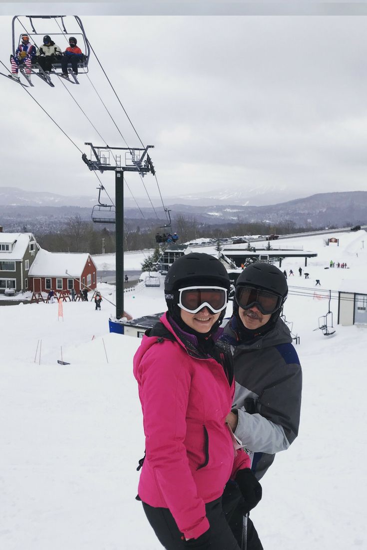 vermont_skiing_husband_and_wife_posing_in_gear_at_bromley_mountain_vermont