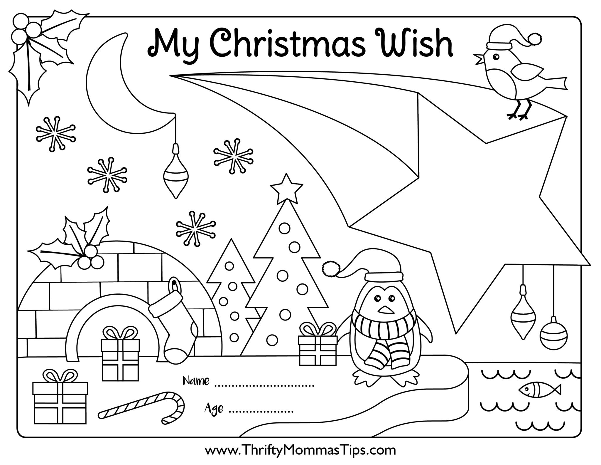 wish list printable for kids