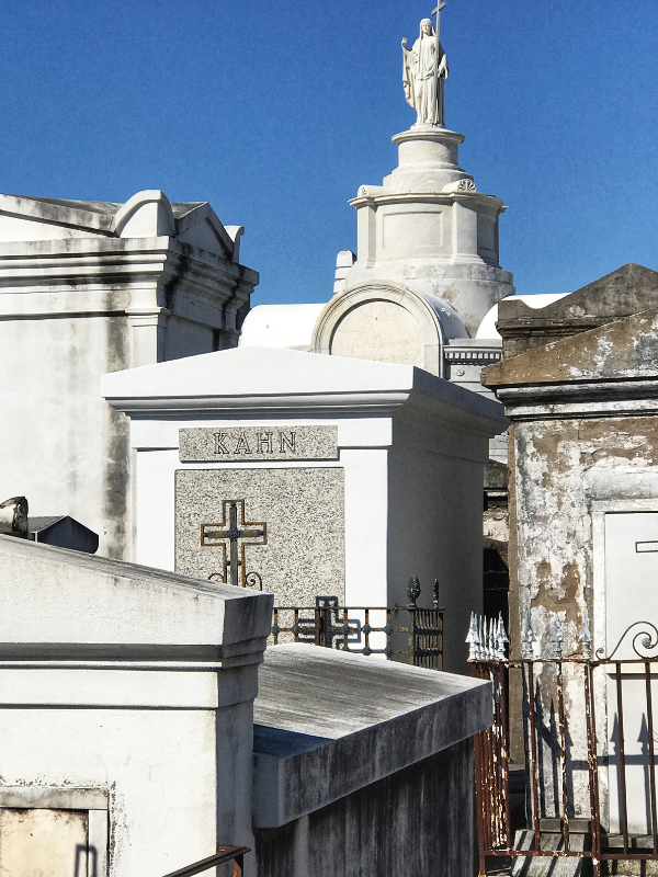 St Louis cemetery tombs white