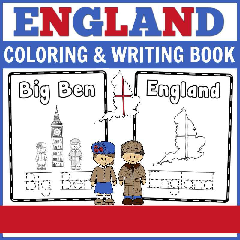 England_coloring_and_writing_book